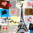 Paris pattern seamless — Vector de stock