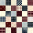 Quilting design in chess order. Seamless background texture. — Stok Vektör