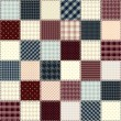 Quilting design in chess order. Seamless background texture. — Stock vektor