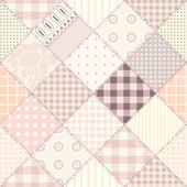 Pink quilting design — Vector de stock