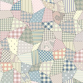 Quilting pattern — Vettoriale Stock