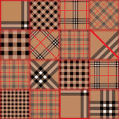 Quilting design of classic tartan — Vector de stock