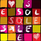 Sale typo background — Stock Vector