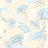 Seamless spring background of snowdrops. — Vector de stock