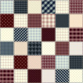 Quilting design in chess order. Seamless background texture. — Vettoriale Stock