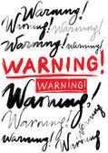 Warning — Stock Vector