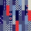 Quilting design in nautical style — Vecteur #32339435