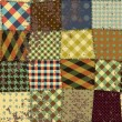 Vettoriale Stock : Imitation of quilting design in grunge style