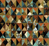 Triangles grunge retro — Stock Vector