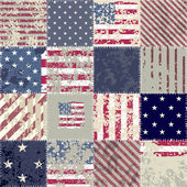 The patchwork of flag USA — Stock Vector