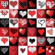 Set of hearts in different styles. — Stock Vector