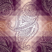 Paisley on pixel background — Stockvektor