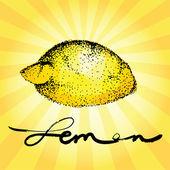 The stylized image of Lemon — Stock Vector