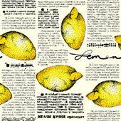 Paper lemons — Stock Vector