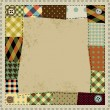 Frame in patchwork style — Vector de stock #41898163