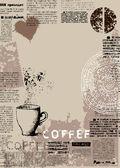 Vertical coffee background — Stock Vector