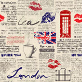 "Newspaper ""London"" — Stock Vector"