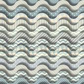 Cartoon waves pattern — Stock Vector