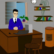 Office worker — Wektor stockowy #32429959