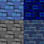 Set of retro square shape patterns — Stock Vector
