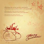 Винтаж Рождество Иллюстрация — Cтоковый вектор