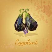 Grungy eggplant — Stock Vector