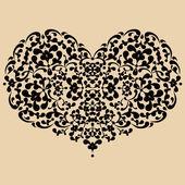 Ornate vector heart — Stock Vector