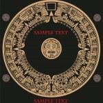Maya calendar — Stock Vector