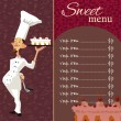 Sweet menu template — Stock Vector