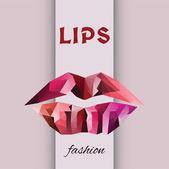 Vektör geometrik moda dudaklar — Stok Vektör