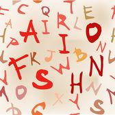 Alphabet Design Elements — Stock Vector