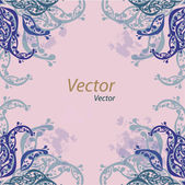 Vector ornamental oriental blue background with tiny elements — Stockvector