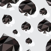 Origami-style background with card suits: spades — Stockvector