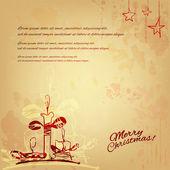 Illustration vintage de Noël ; modèle pour les cartes et affiches — Photo