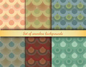 Set of designed colorful backgrounds with circles — 图库矢量图片