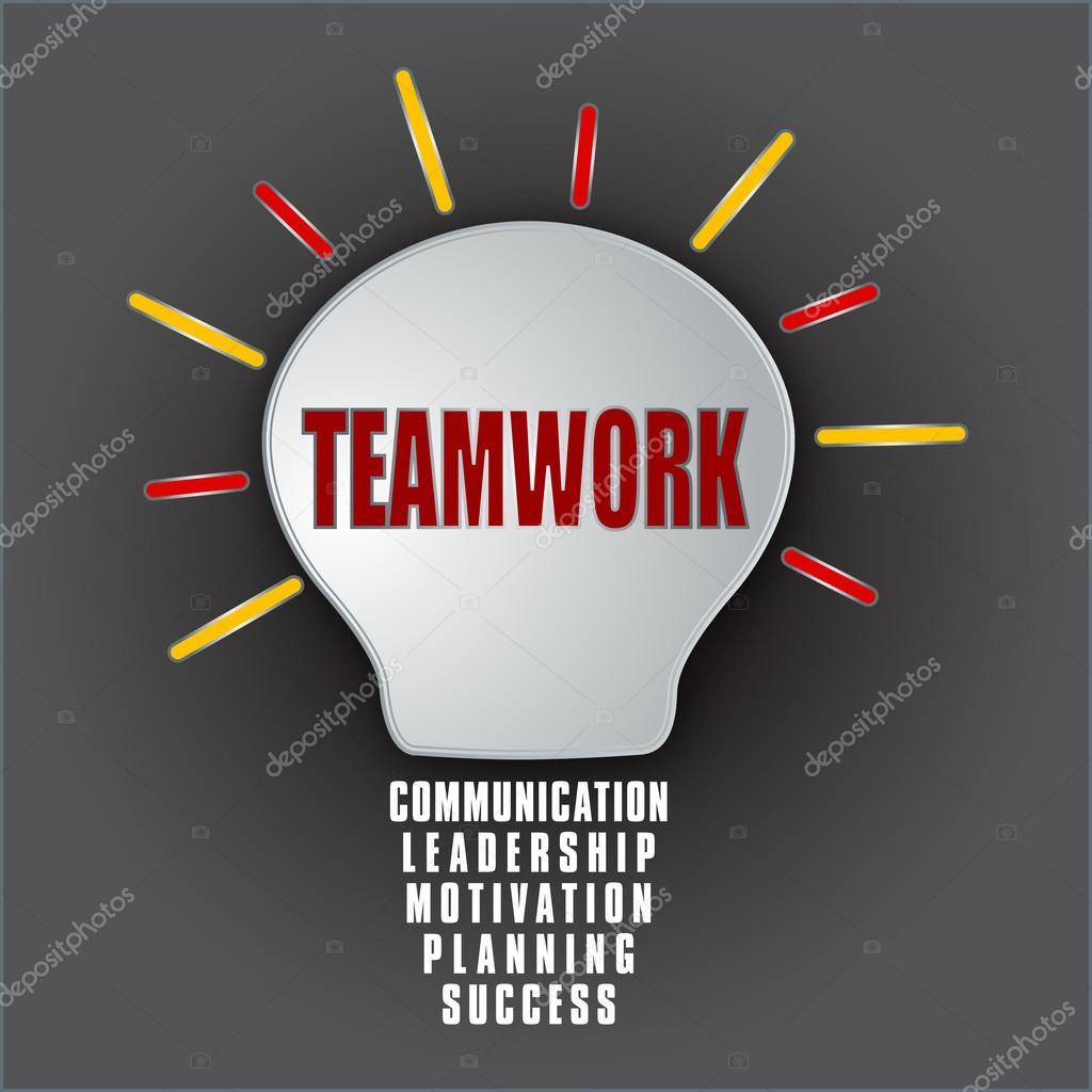 teamwork bulb base of communication leadership motivation teamwork bulb base of communication leadership motivation planning success stock photo 33470551