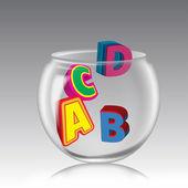 ABCD Pot. — Stock Photo
