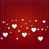 White hearts hang — Stock Photo