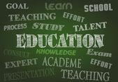 Onderwijs schoolbord — Stockfoto