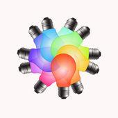 Color bulbs rearrangement — Stock Photo