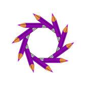 Lápices de color púrpura — Foto de Stock