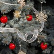 Christmas decorations on tree — Foto Stock