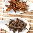 Stock Photo: Star anise and clove