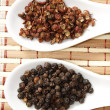 Szechuan and black pepper — Stock Photo