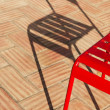 Stock Photo: Old retro metal chair