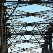 Stock Photo: Close-up showing detail on Auckland harbour bridge