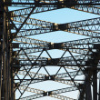 ストック写真: Close-up showing detail on Auckland harbour bridge