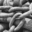 Rusted chains — Stock Photo