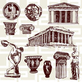 Ancient Greece Elements — Stock Vector