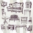 Antique Furniture — Stockvector #30844409